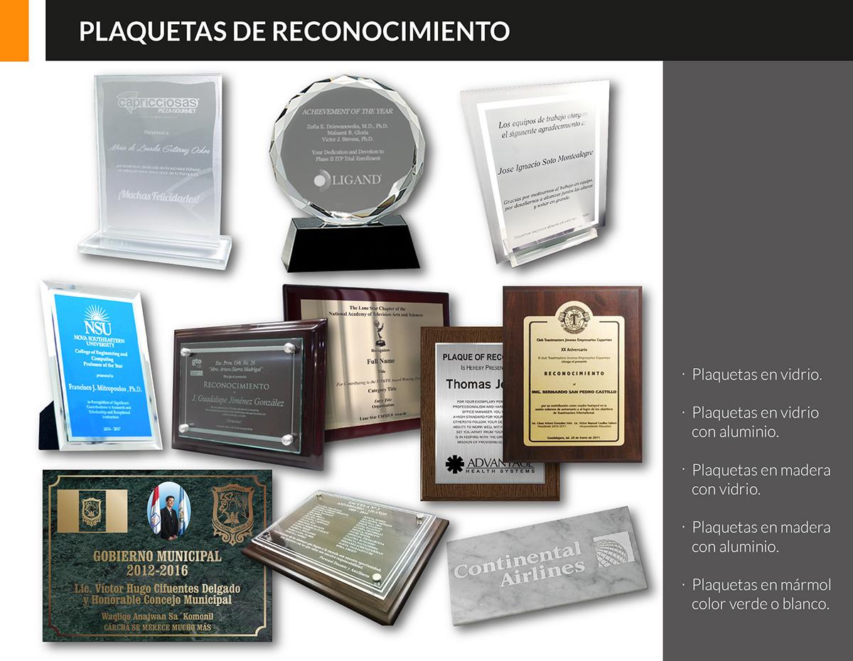 Plaquetas de reconocimiento